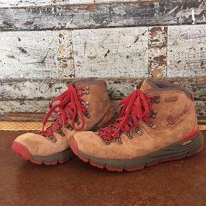 Danner hiking boots, red lace and bottom